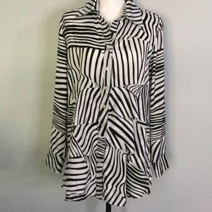 Finley Zebra Top blouse shirt